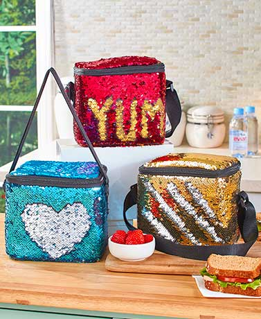 Mermaid Reversible Sequin Lunch Totes