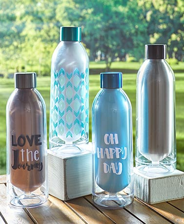 23-Oz. Acrylic and Stainless Steel Water Bottles