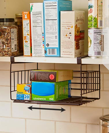 Expanding Under-Shelf Baskets