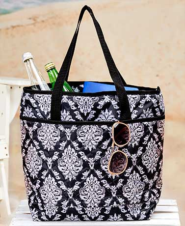 Quilted Insulated Cooler Tote Bags