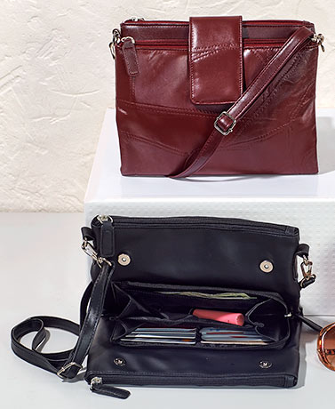 Patch Leather Multipurpose Handbags