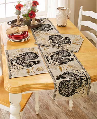 Agrarian Rooster Tapestry Home Collection