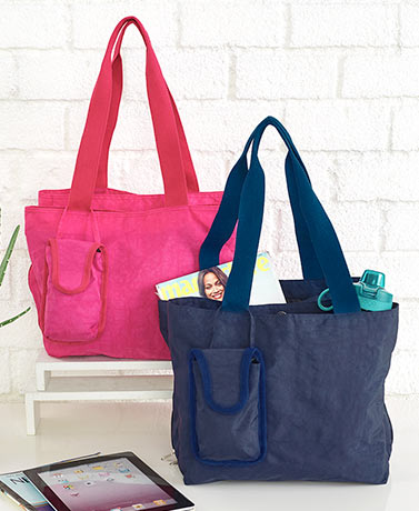 Triple Compartment Organizer Tote with Tech Case