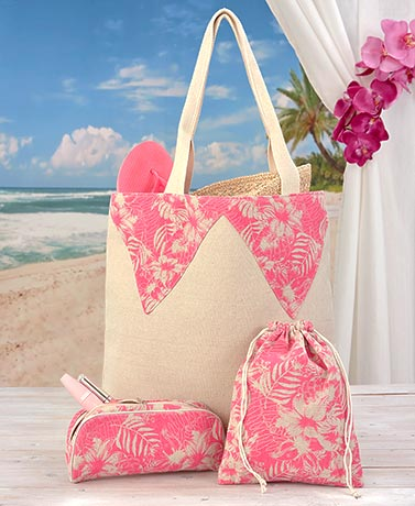 3-Pc. Summer Tote Bag Sets