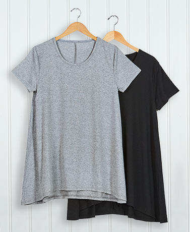 Set of 2 Swing Tunics - BlackGray