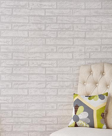 Peel and Stick PVC Wall Coverings - White Wash Brick
