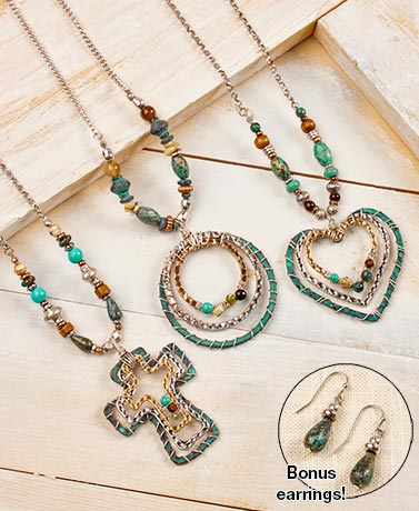 Beaded Pendant Necklaces