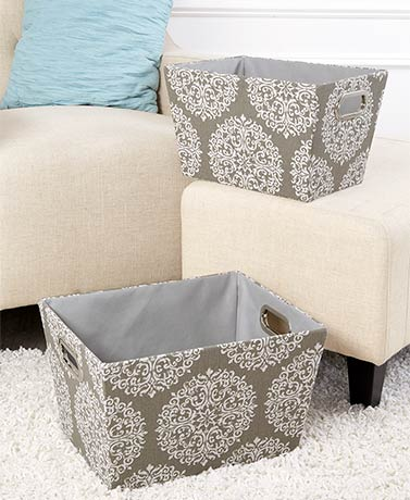 Sets of 2 Fabric Storage Baskets