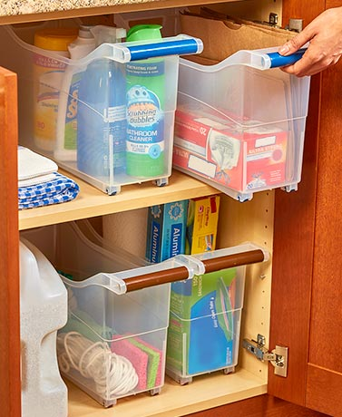 Space-Saving Rolling Storage Bins