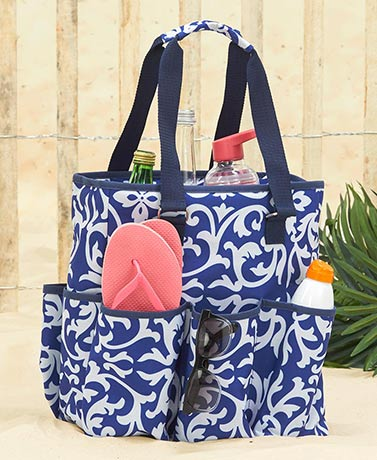 Insulated Cooler Tote with Bottle Holder