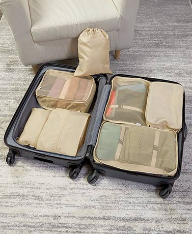 7-Pc. Packing Cube and Organizer Sets
