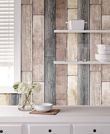 NuWallpaper™ Peel and Stick Wallpaper - Reclaimed Wood Plank