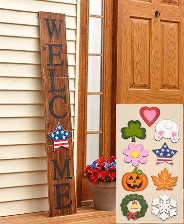 10-Pc. Interchangeable 5-Ft. Welcome Sign