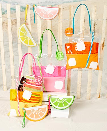 Summer Drink Tote Bags or Fruit Pouches