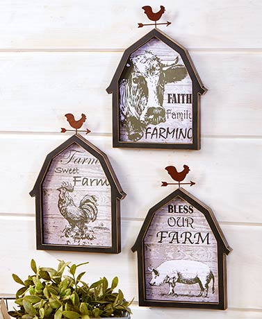 Farmhouse Sentiment Plaques