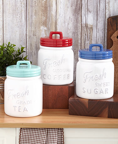 Farm Fresh Mason Jar Canisters