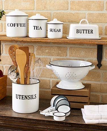 Country Enamelware Kitchen Collection