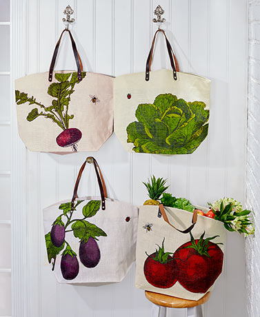 Farmhouse Leather Handle Market Bags