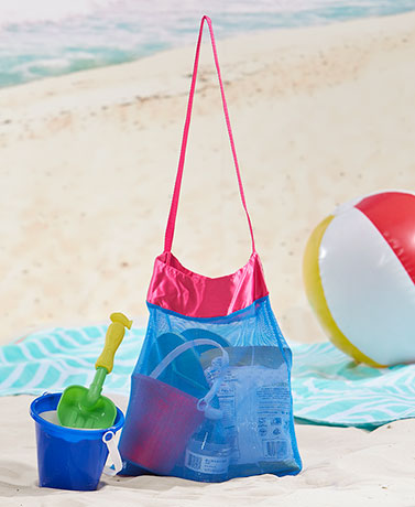 Set of 2 Mesh Beach Totes
