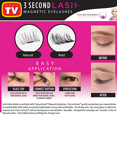 3 Second Lash™ Magnetic Accent Eyelashes