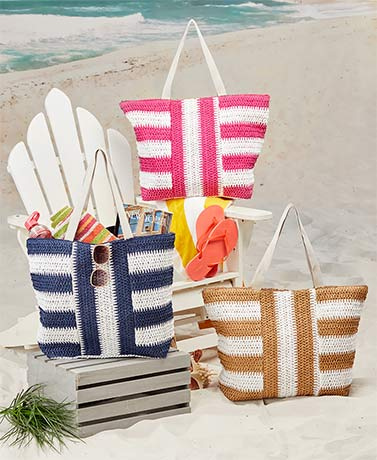 Oversized Zippered Beach Totes