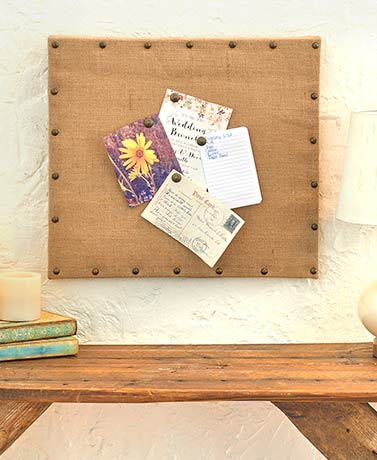 Studded Burlap Message Boards
