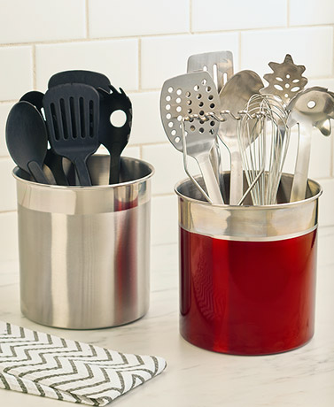 Jumbo Stainless Steel Utensil Crocks