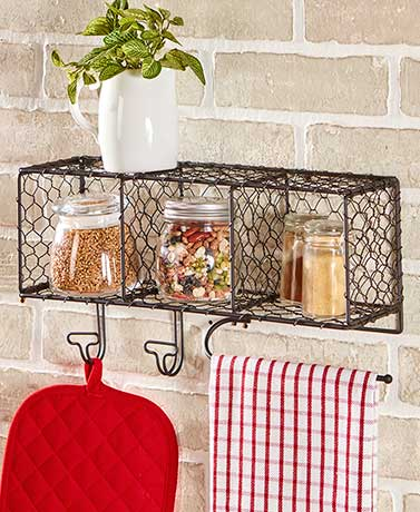Country Kitchen Wall Baskets