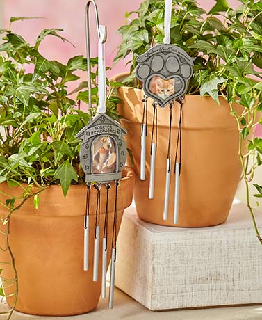 Pet Memorial Photo Wind Chime with Hook