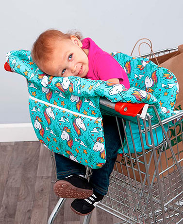 Unicorn Portable Shopping Cart or High Chair Cover