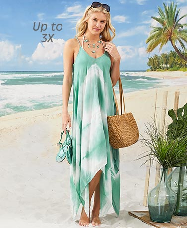 Women's and Women's Plus Swing Cover-ups - Mint
