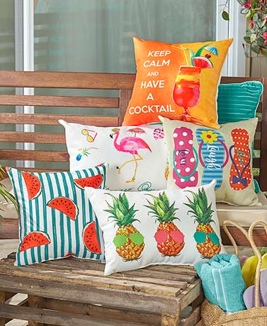 IndoorOutdoor Summer Fun Pillows