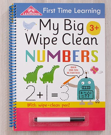 My Big Wipe Clean Letters or Numbers Books