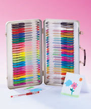 52-Pc. Gel Pens with Case