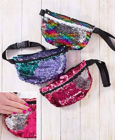 Girls' Reversible Sequin Belted Bags