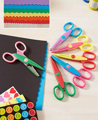 Set of 6 Crafting Scissors or Set of 10 Punches