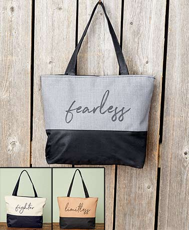 Two-Tone Canvas Totes