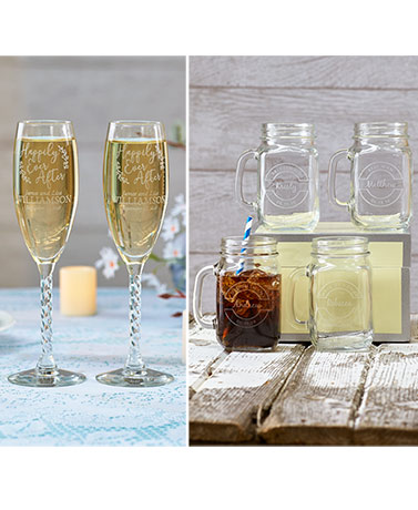 Personalized Engraved Bridal Party Drinkware