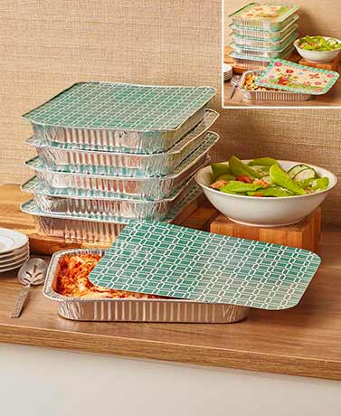 12-Pc. Bake, Take and Toss Pans Sets