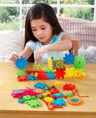 81-Pc. Educational Moving Gears Playset