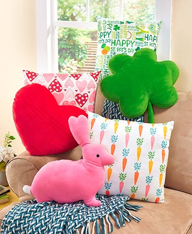 Sets of 2 Novelty Throw Pillows