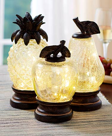 Crackle Glass Accent Lights