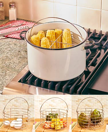 Steaming Basket with Divider