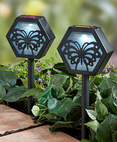 Sets of 2 Solar Silhouette Stakes