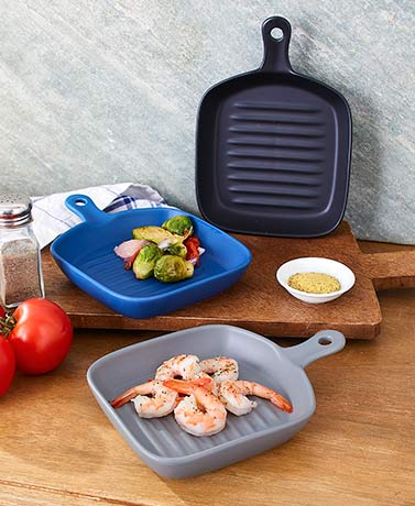 Handled Ceramic Cooking Plates