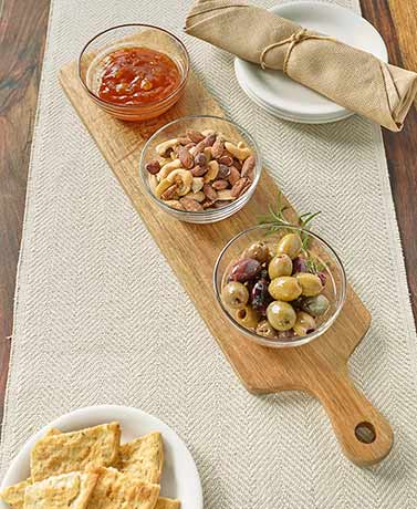 4-Pc. Serving Plank and Bowl Set