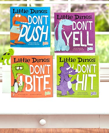 Little Dinos Teach Manners 4-Book Set