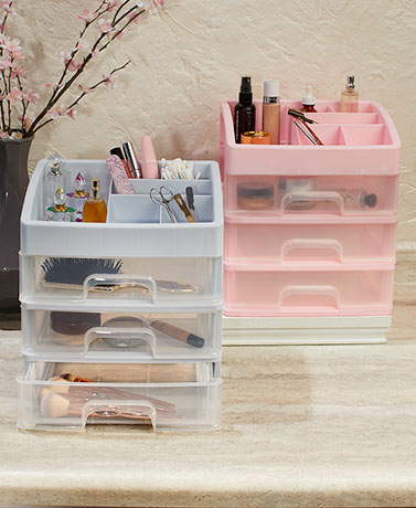 Countertop 3-Drawer Makeup Organizers