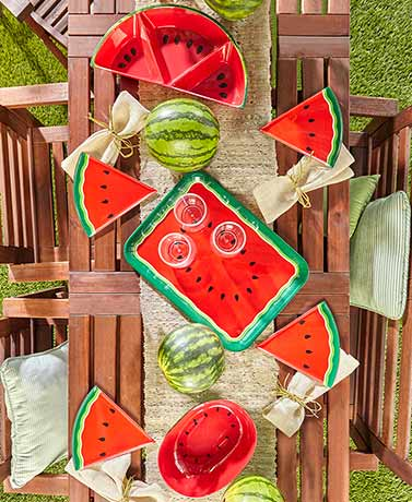 Melamine Watermelon Tabletop Collection