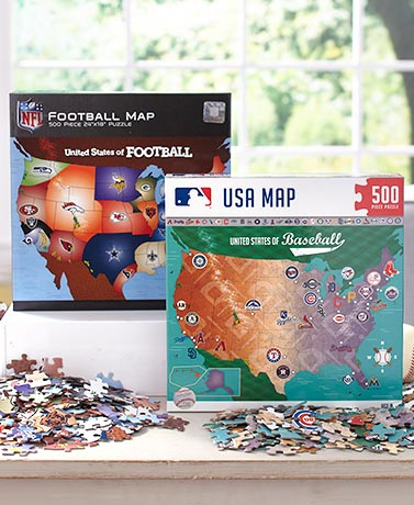 500-Pc. Licensed Sport Territory Map Puzzles